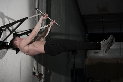 front lever on chin up bar
