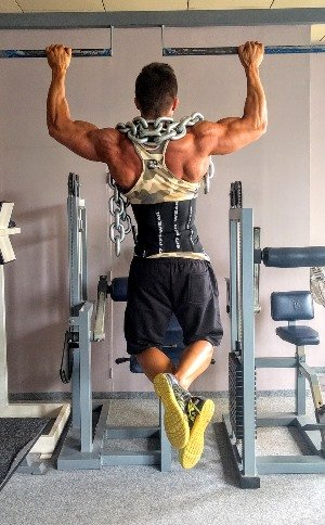 weighted pull-ups for wide back