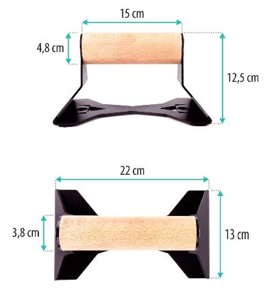 push-up bar dimensions