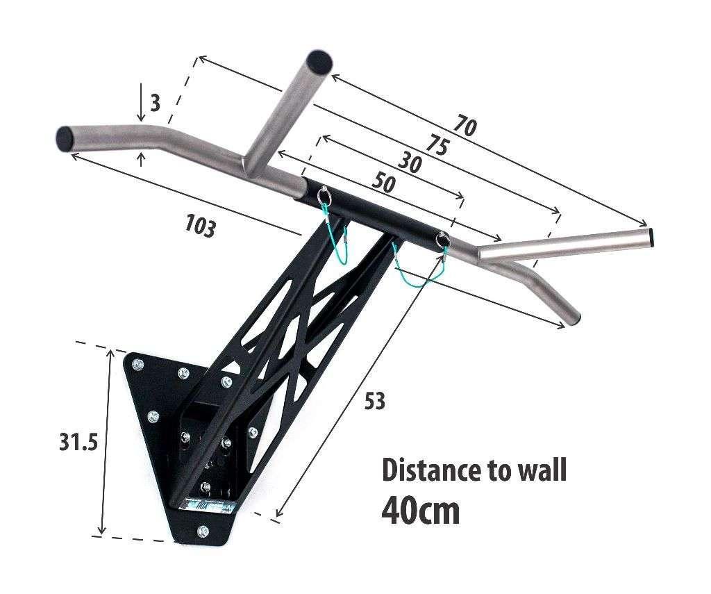 Mobile Pullup & Dip Klimmzugstange preiswerte Stahl-Variante bei Pullup & Dip kaufen